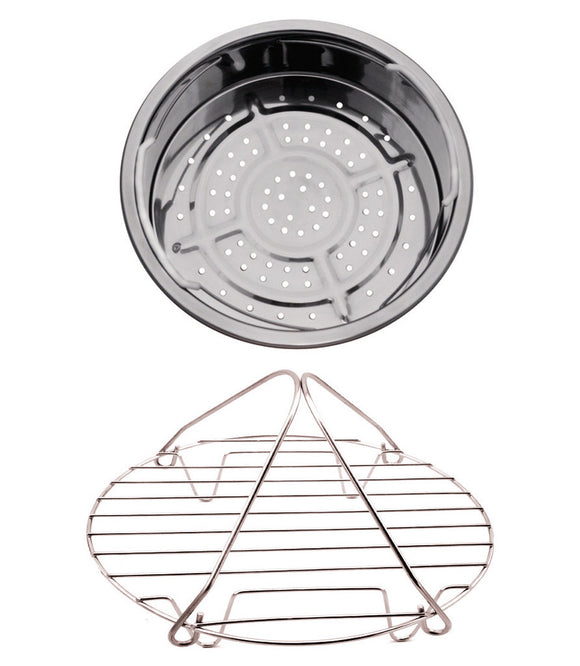 Pressure Cooker/Slow Cooker Stainless Steel Basket and Rack - GoWISE USA