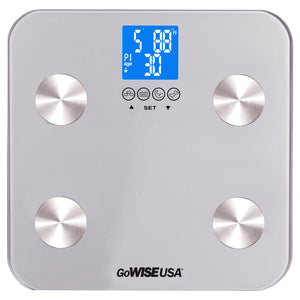 GoWISE USA Body Fat Scale - FDA Approved - Silver