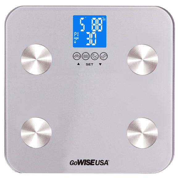 Body Fat Scale - FDA Approved - Silver, GW22029 - GoWISE USA