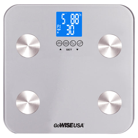 GoWISE USA Body Fat Scale - FDA Approved - Silver GW22029