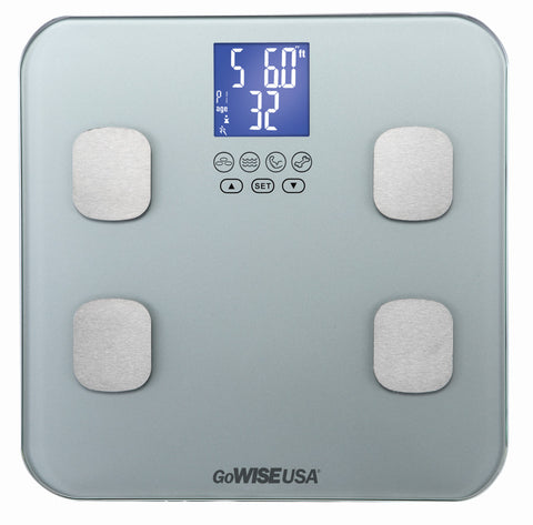 GoWISE USA Body Fat Scale - FDA Approved - Silver GW22032