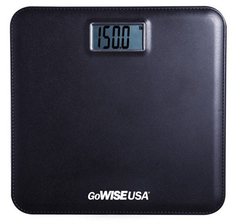 Electronic Personal Digital Scale w/ Step-On Technology - Black GW22035