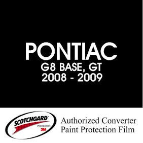 G8  2008 - 2009  PONTIAC   3M™ Scotchgard™ Paint Protection Film Kit