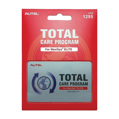 Autel MaxiSYS Elite One Year Total Care Program Subscription Card
