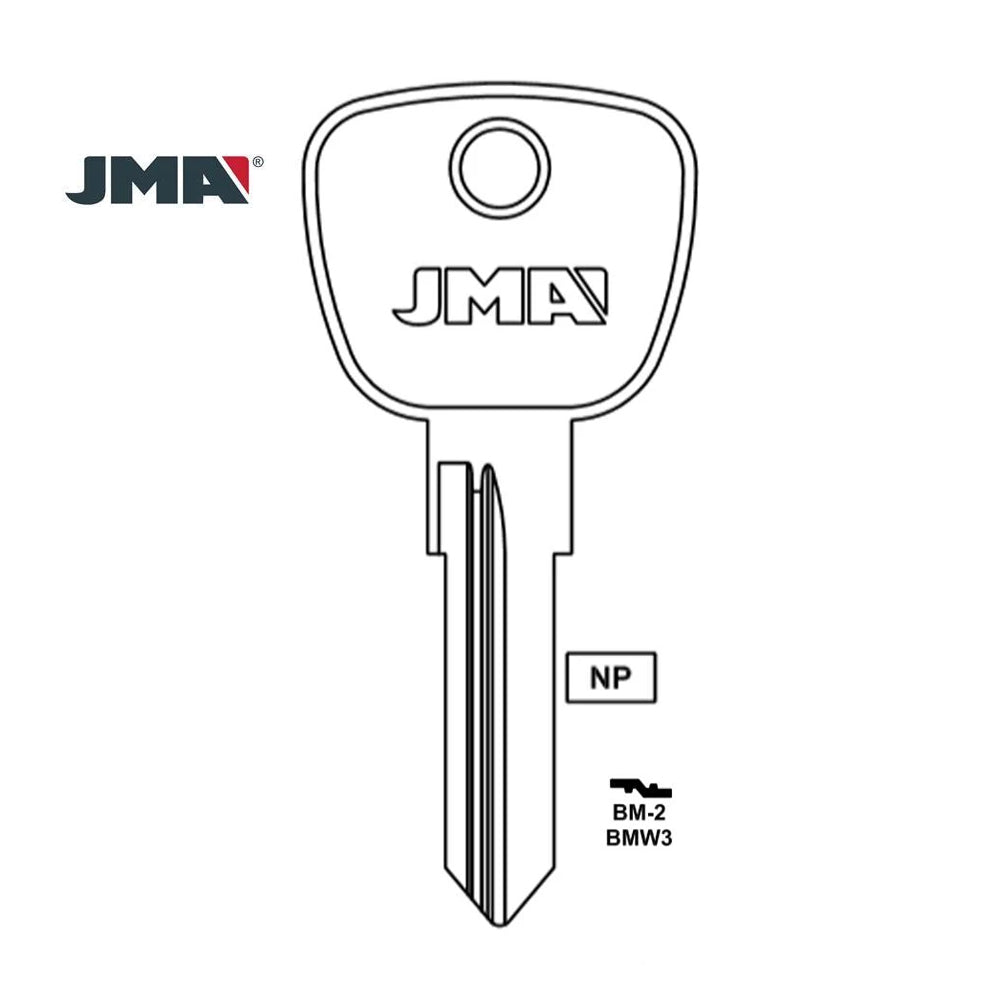 BMW Key Blank - BMW3 / BM-2 (Packs of 10)