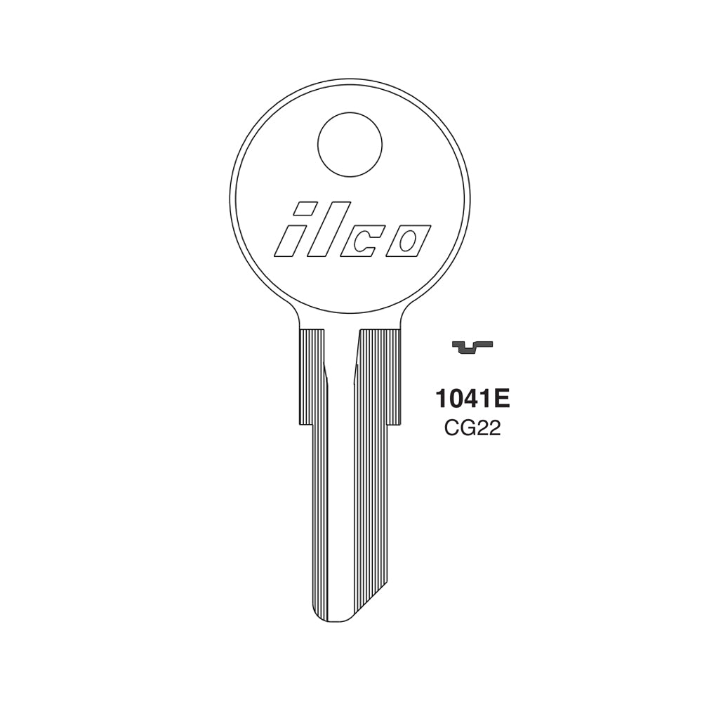 1041E Chicago Commercial Residencial Key Blank CHI 14 CG22 Packs of 10