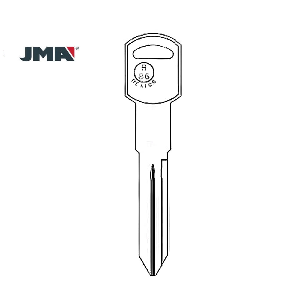GM Key Blank - B86 / GM-14E (Packs of 10)