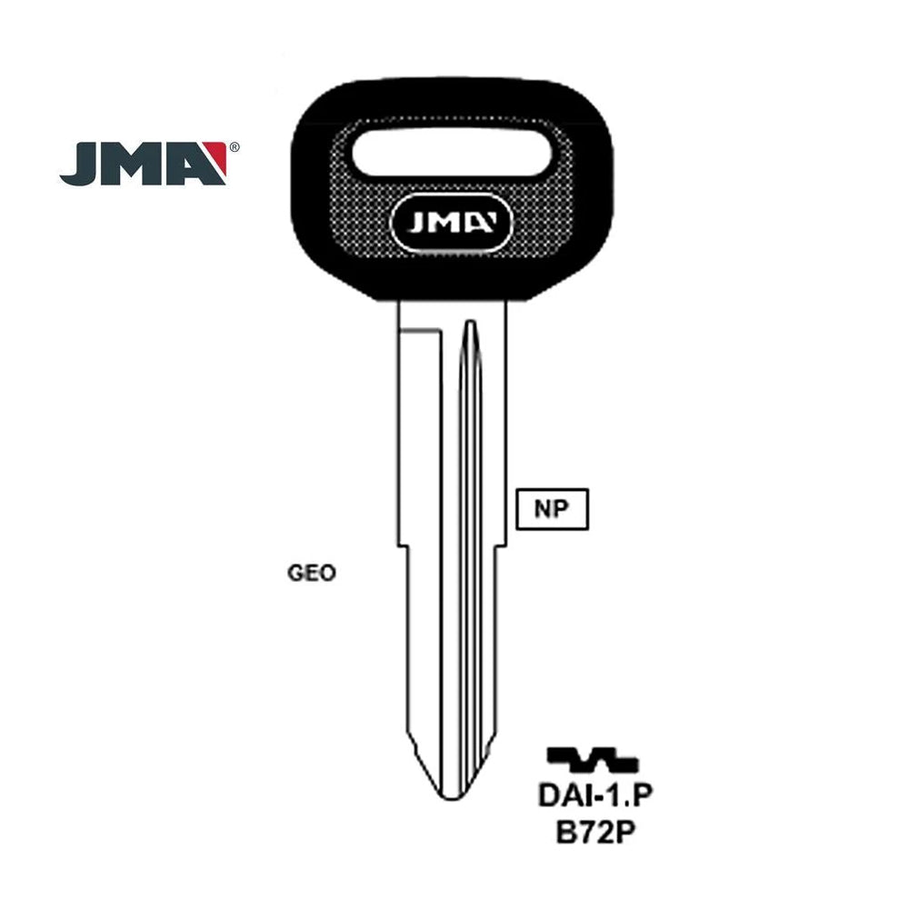 GM Key Blank - B72P / DAI-1.P (Packs of 5)