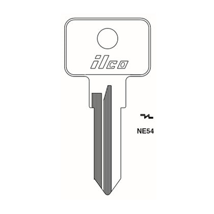 Fiat Ducati Porsche Key Blank - FI-3D / NE54  (Packs of 10)