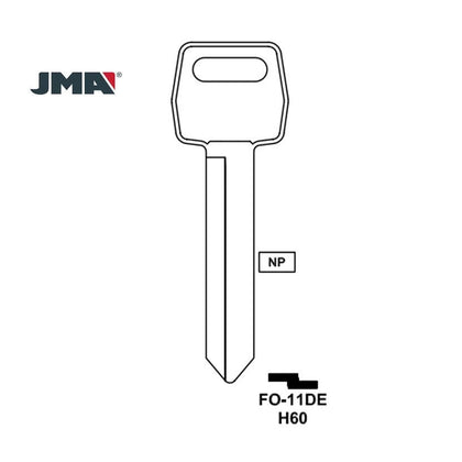 Ford Lincoln Mercury Key Blank - H60 / FO-11DE (Packs of 10)