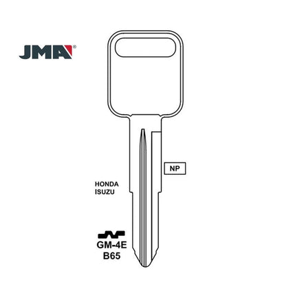 Isuzu Key Blank - B65 / GM-4E (Packs of 10)