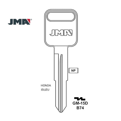 Isuzu Key Blank - B74 / GM-15D (Packs of 10)