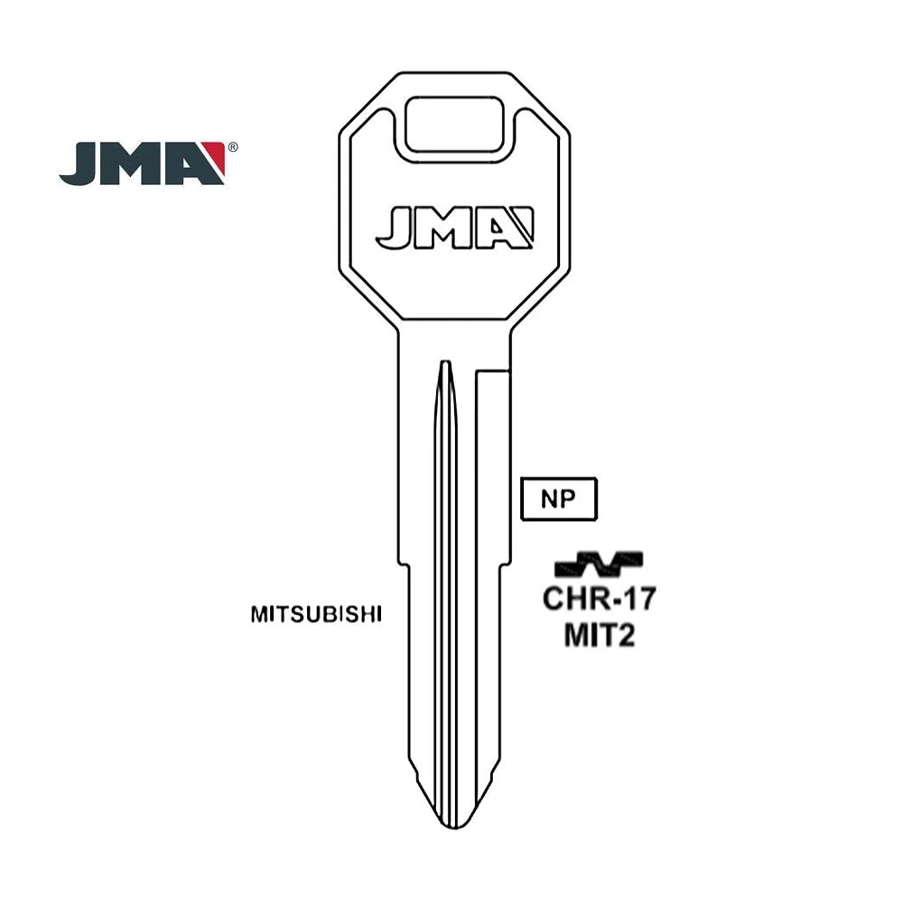 Mitsubishi Chrysler Key Blank - MIT2 / CHR-17 (Packs of 10)