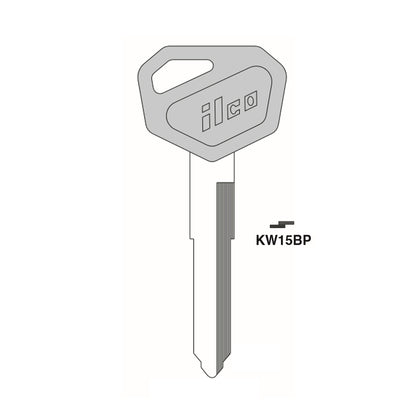 Kawasaki Motorcycle Key Blank - KAW-7.P / KW15BP (Packs of 5)