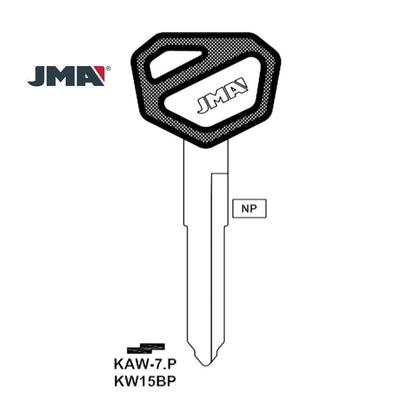 Kawasaki Motorcycle Key Blank - KW15BP / KAW-7.P (Packs of 5)