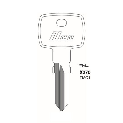 Triumph Motorcycle Key Blank - TRP-1D / TMC1 (Packs of 10)