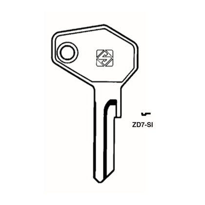 Kawasaki Ducati Triumph Zadi Motorcycle Key Blank - ZA-12 / ZD7-SI (Packs of 10)