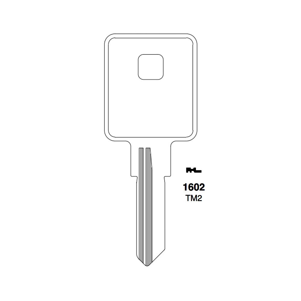 1602 Trimark Key Blank TRM 6D TM2 Packs of 10