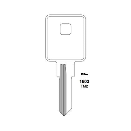 1602 Trimark Key Blank - TRM-6D / TM2 (Packs of 10)