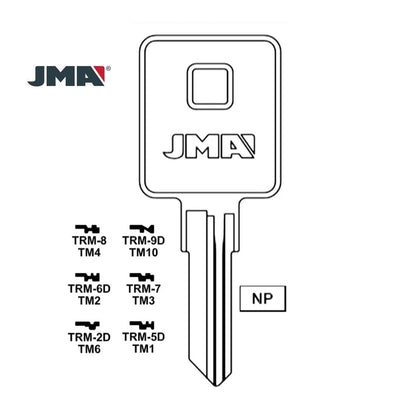 1602 Trimark Key Blank TM2 / TRM-6D (Packs of 10)