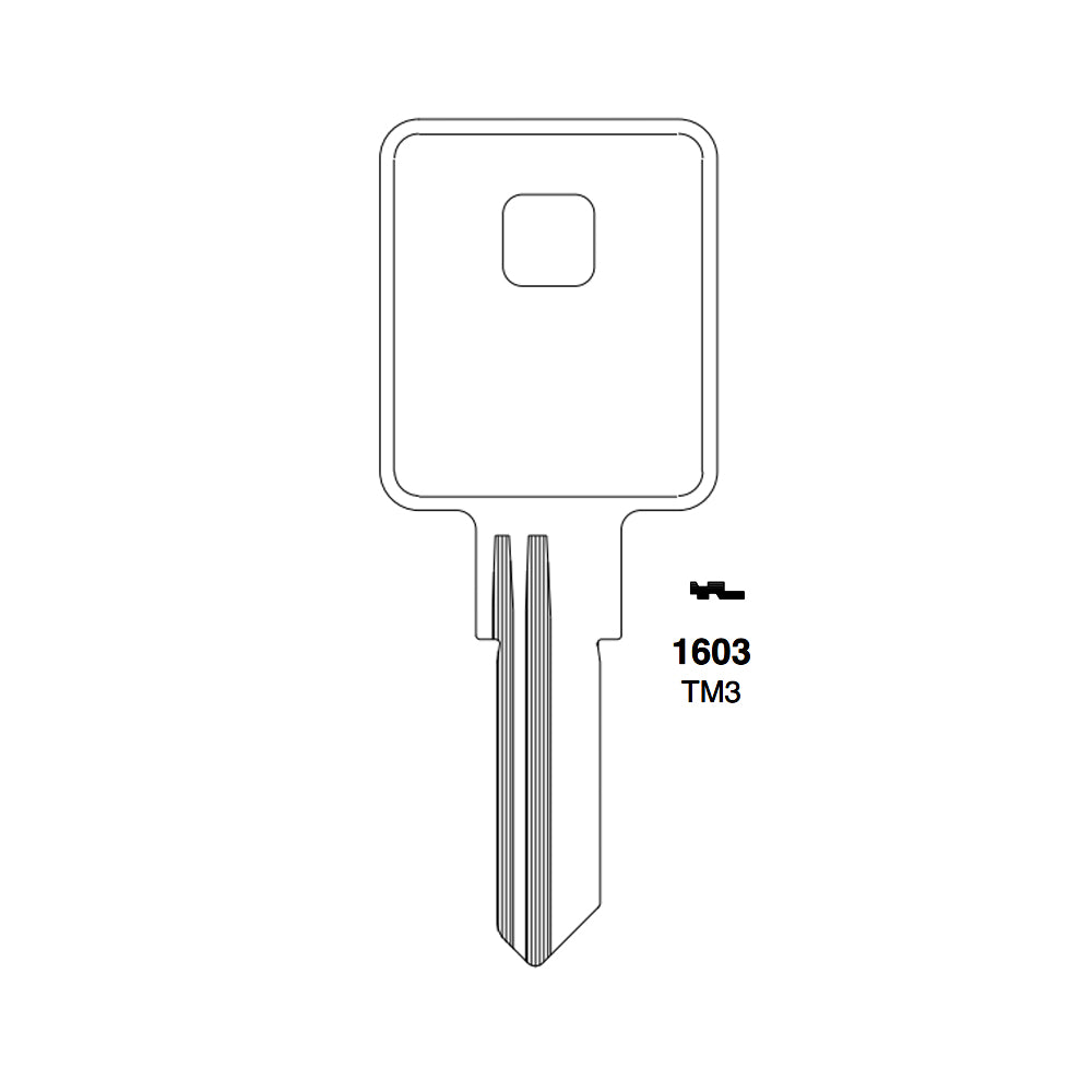 1603 Trimark Key Blank TRM 7 TM3 Packs of 10