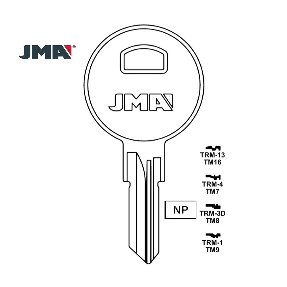 1609 Trimark Key Blank TM9 / TRM-1 (Packs of 10)