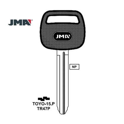 1990 - 2012 JMA Key Blank   for Toyota Scion Suzuki/ TR47P (Packs of 5)