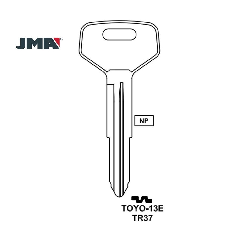 Toyota Key Blank - TR37 / TOYO-13E (Packs of 10)