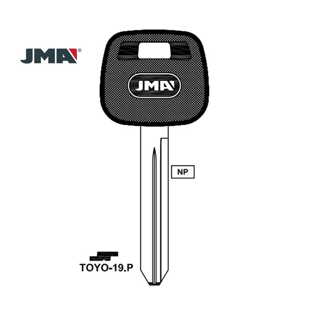 JMA Key Blank  for Toyota / TOYO-19.P (Packs of 10)