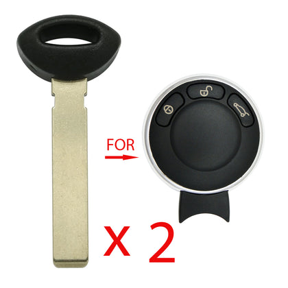 2010 - 2014  Mini Cooper Emergency Key (2 Pack)