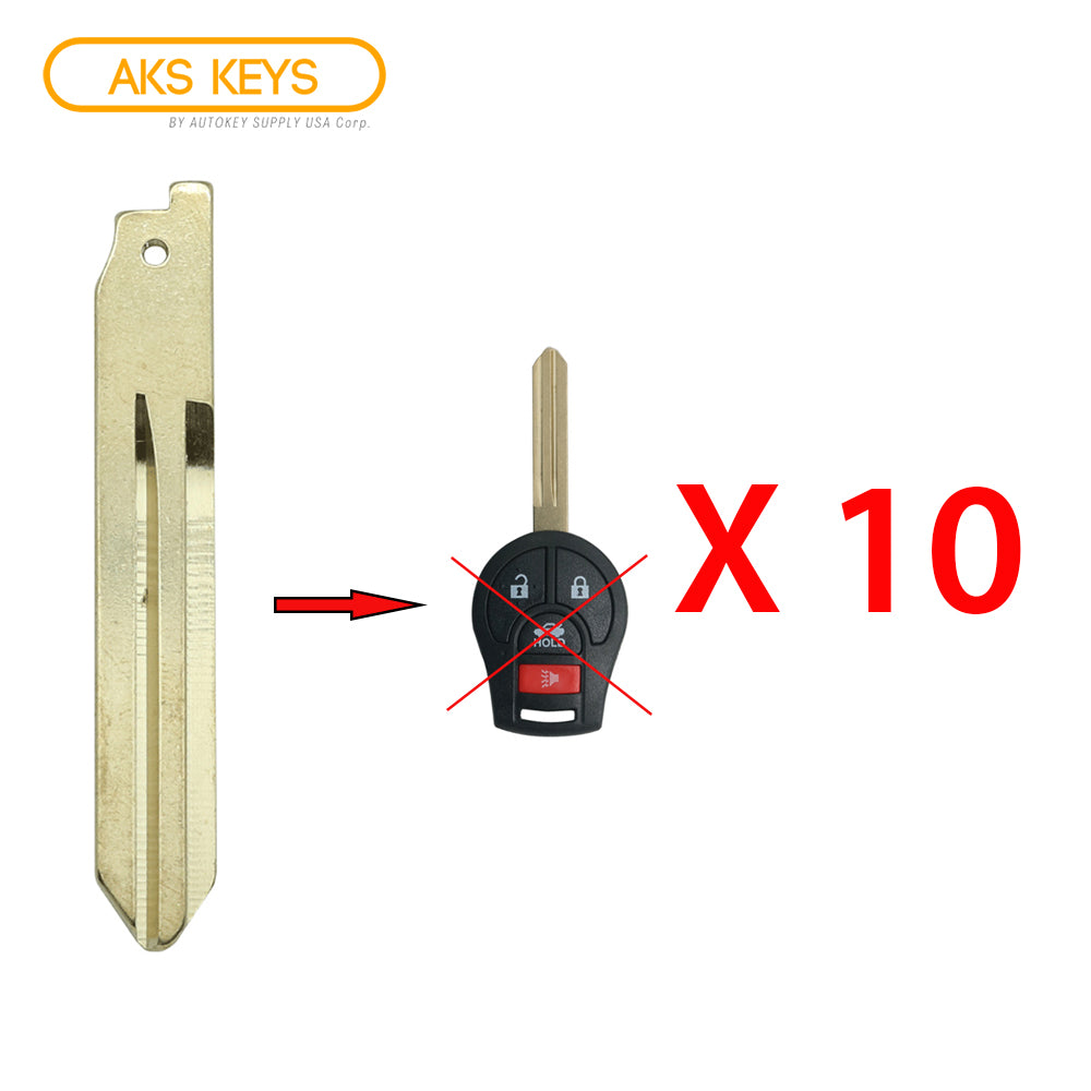 2003 - 2013 Nissan Remote Key Blade (10 Pack)