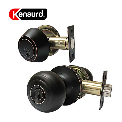 Knob & Deadbolt Combo Lockset G3 Oil Rubbed Bronze KBL01-ORB-KW1