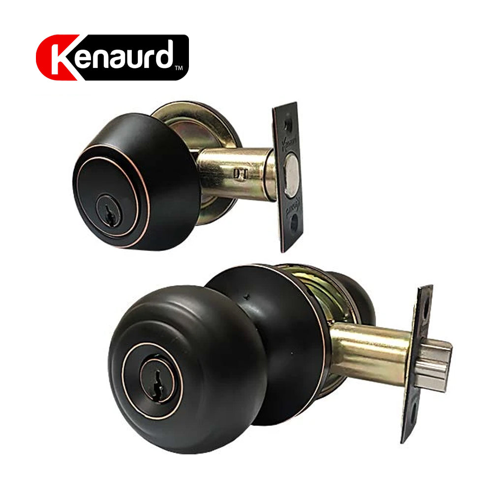 Knob & Deadbolt Combo Lockset G3 Oil Rubbed Bronze KBL01-ORB-SC1