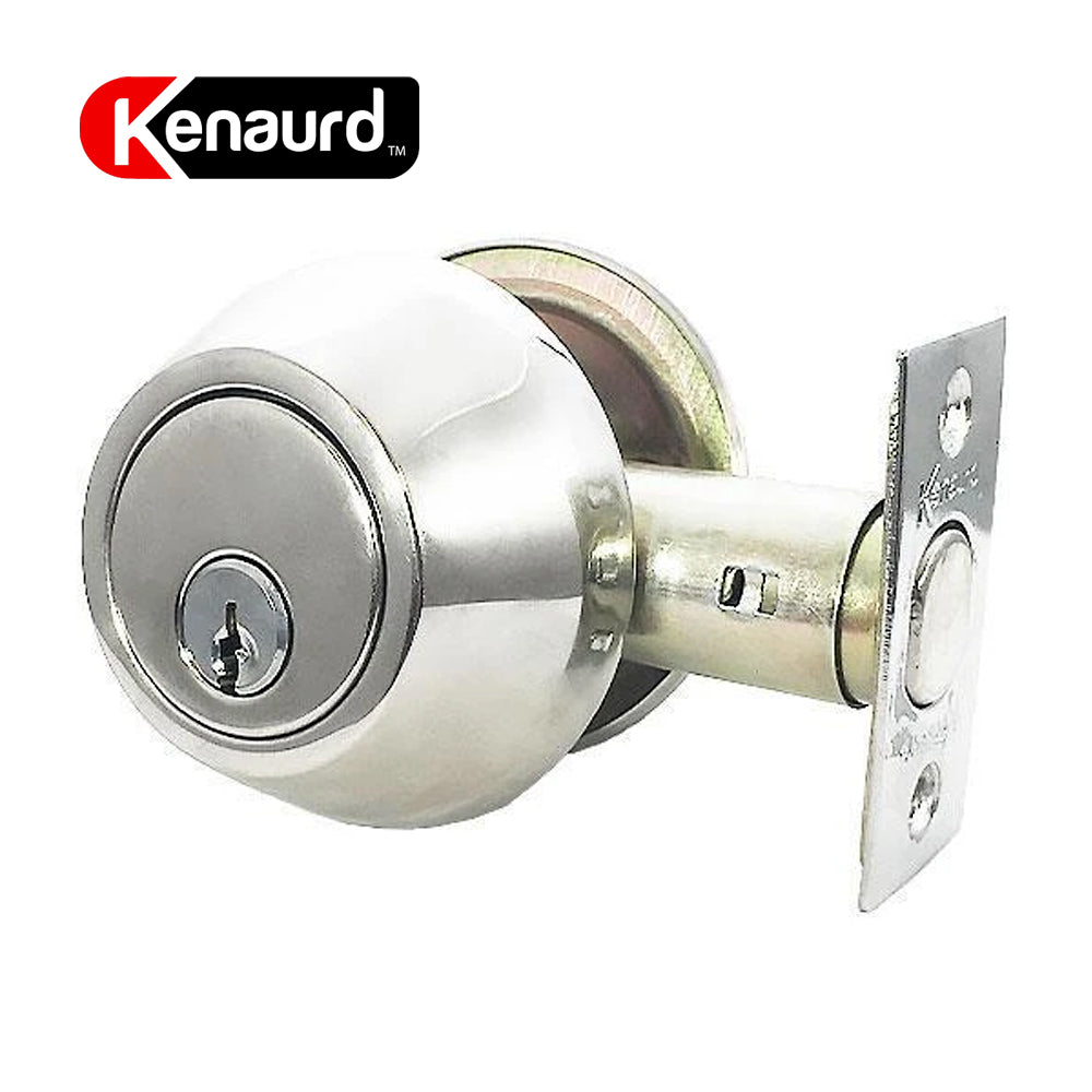 Deadbolt Lock Bright Chrome Single Cylinder KDB01-BC-KW1