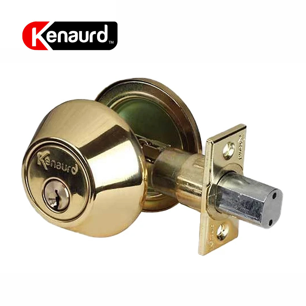 Deadbolt Lock Polished Brass Single Cylinder KDB01-PB-KW1