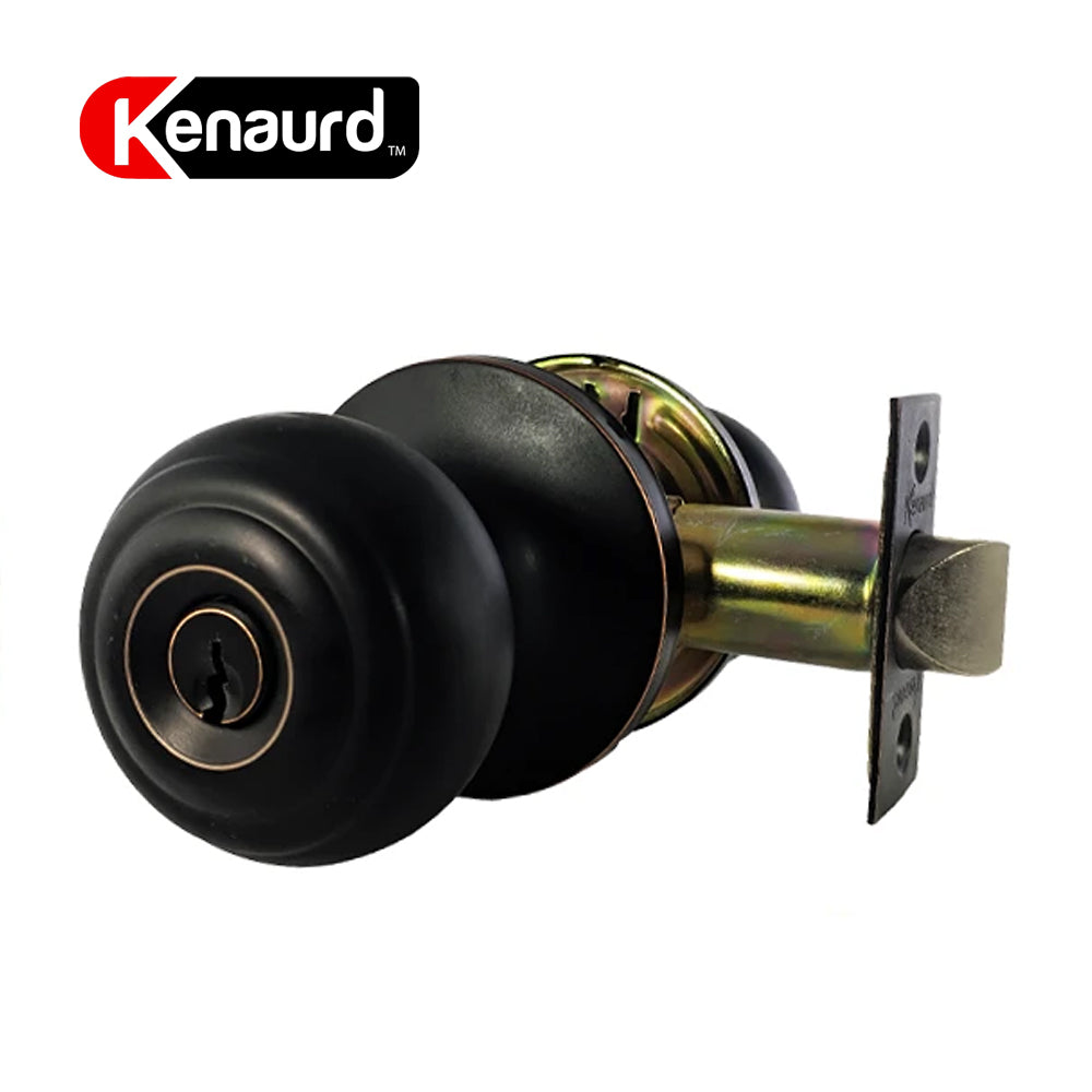 Kenaurd Knobset Entrance Lock Oil Rubbed Bronze KEL01-ORB-KW1