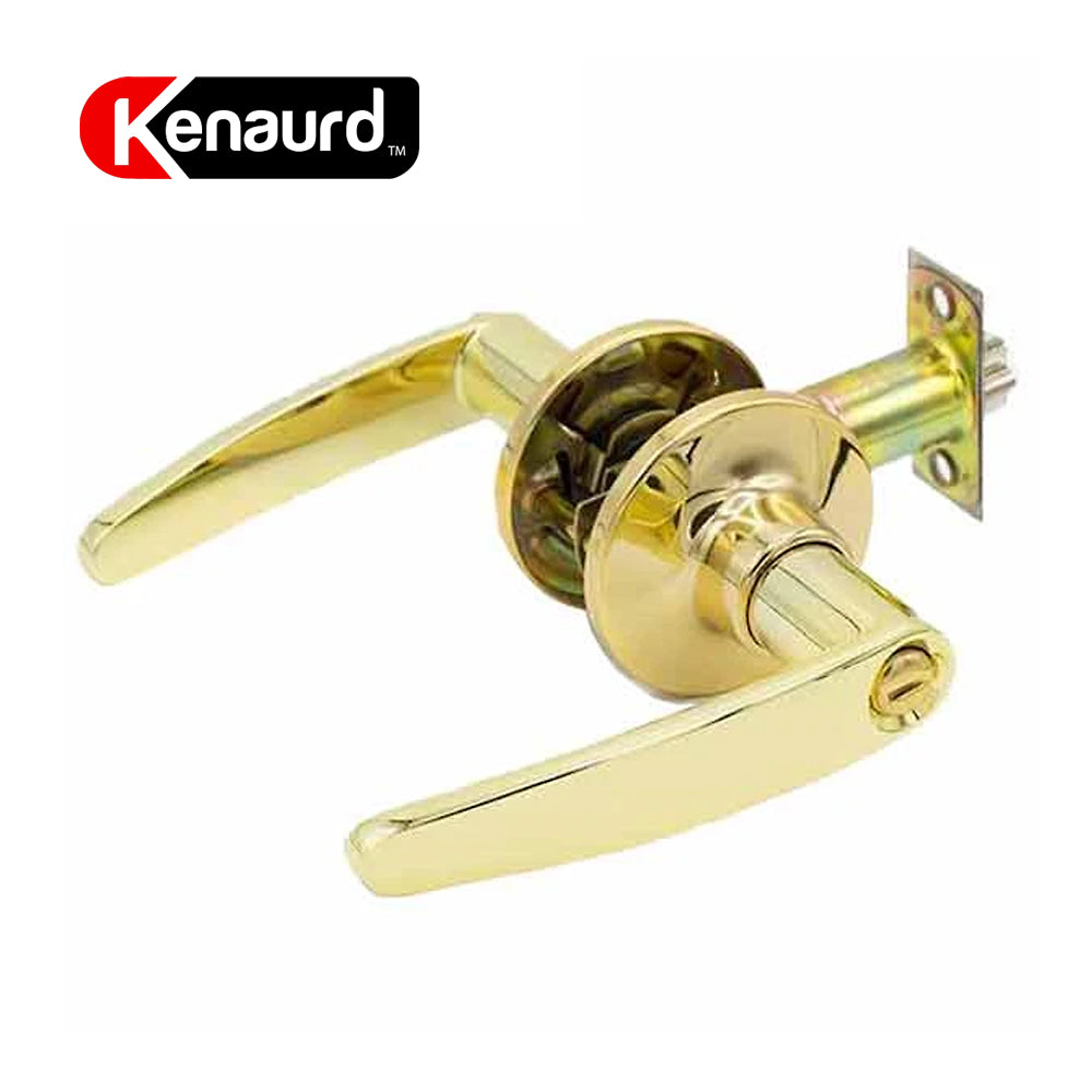 Design #2 Privacy Leverset Grade 3 Bright Brass KLE02-BB-PR