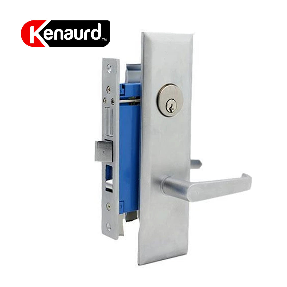 Heavy Duty Mortise Entry Leverset US26D Silver Left Handle KMLWL01-SS-SC1-RH