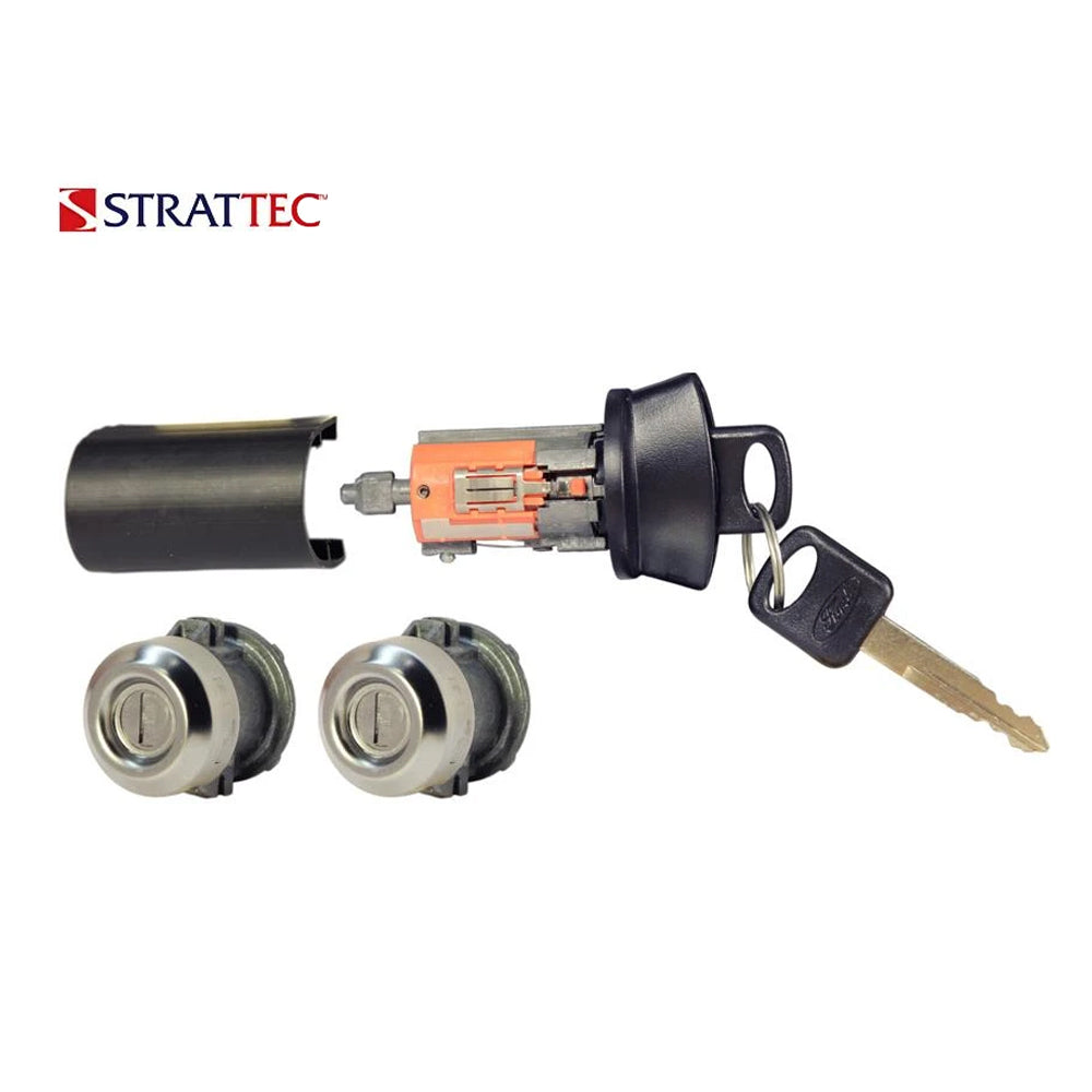 1996 - 2011 Strattec Ford Lincoln Mazda Mercury Doors and Ignition Coded Lock Set / 7012802
