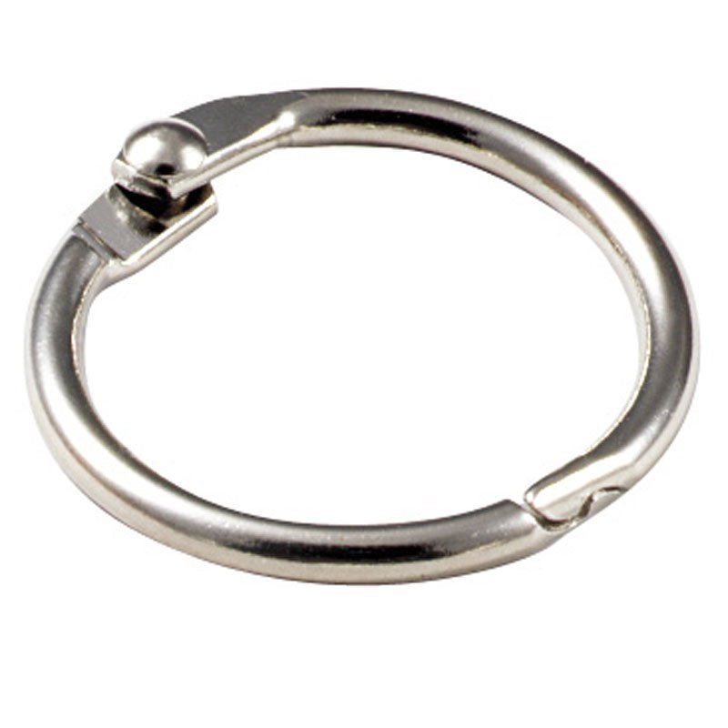2 METAL BINDER RINGS 10/PK