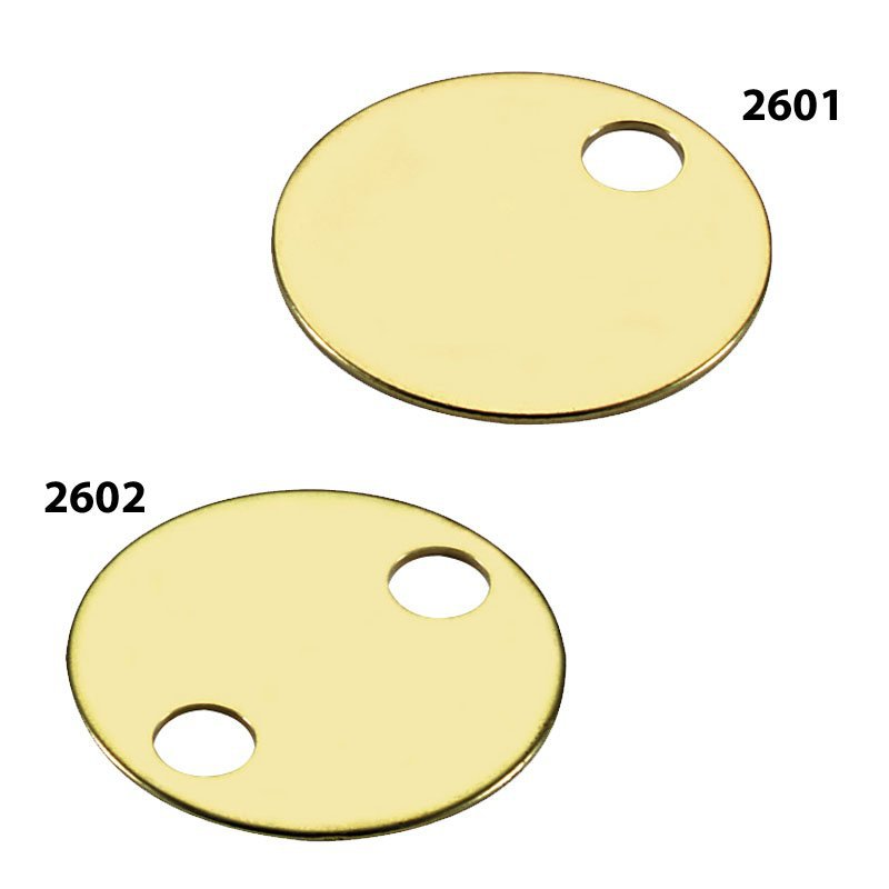 1 38 BRASS TAG 1 HOLE 100BX