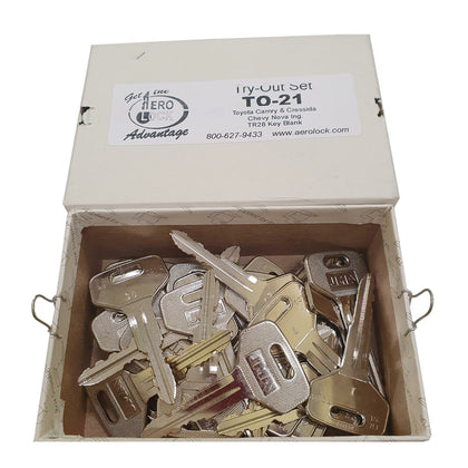 AeroLock TO-21 Try-Out Set for Toyota All Locks TR28 - 32 Keys