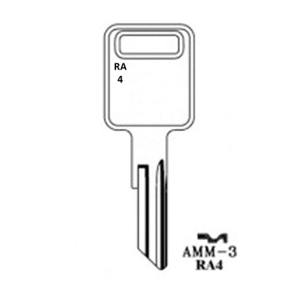 AeroLock TO-4 Try-Out Set for American Motors All Locks (Except Renault) RA4 - 96 Keys