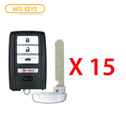 2015 - 2020 Acura Smart Key 4B FCC# KR5V1X (15 Pack)