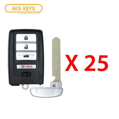 2015 - 2020 Acura Smart Key 4B FCC# KR5V1X (25 Pack)