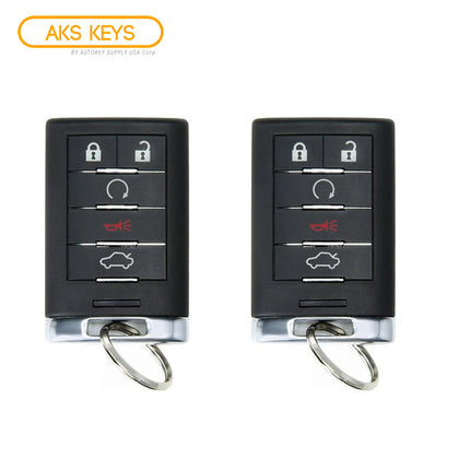 2008 - 2014 Cadillac Smart Key 5B FCC# M3N5WY7777A (2 Pack)