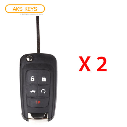 2010 - 2019 Chevrolet Remote Flip Key 5B FCC# OHT01060512 (2 Pack)