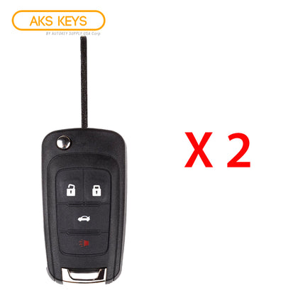 2010 - 2019 Chevrolet Remote Flip Key 4B FCC# OHT01060512 (2 Pack)
