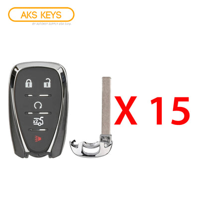 2016 - 2021 Chevrolet Smart Key 5B FCC# HYQ4EA (15 Pack)
