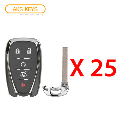 2016 - 2021 Chevrolet Smart Key 5B FCC# HYQ4EA (25 Pack)